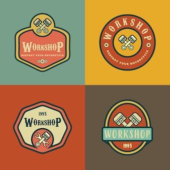 Exemples d'atelier vintage et retro in logo