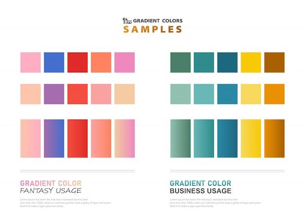 Exemples de dégradés de thèmes de couleurs abstraites pour utilisation