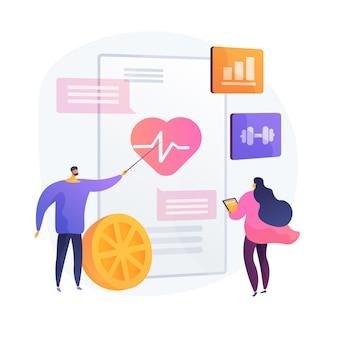 Exercice cardio et mode de vie sain. prévention des maladies cardiaques, soins de santé, cardiologie. alimentation saine et entraînement. diagnostics de santé.