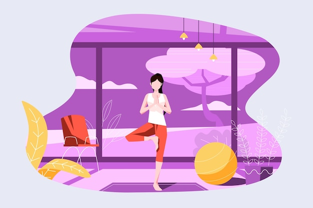 Exercice à domicile concept