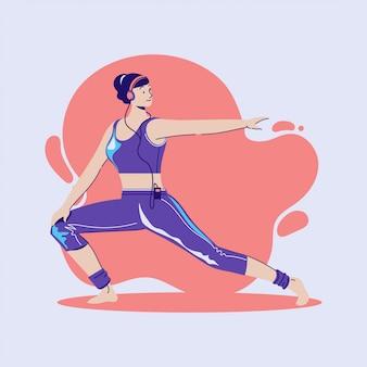 Exercice et entraînement sportifs à domicile lors d'une épidémie de coronavirus covid-19