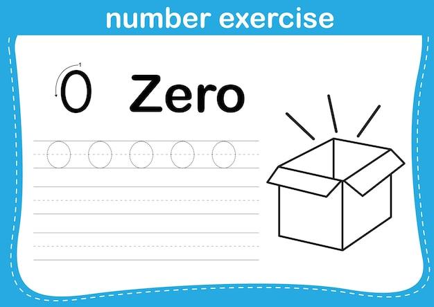 Exercice de nombre avec illustration de livre de coloriage de dessin animé