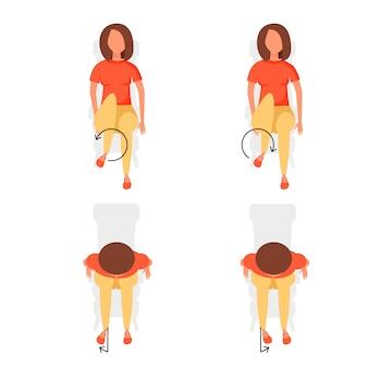 Exercices de sport pour le bureau