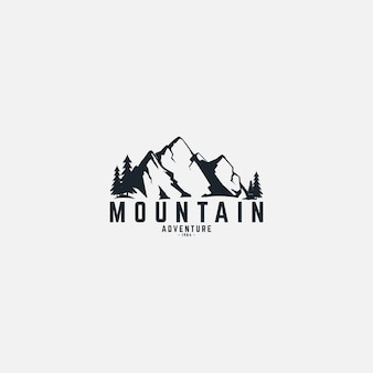 Expédition en montagne et aventure dans le logo de la nature