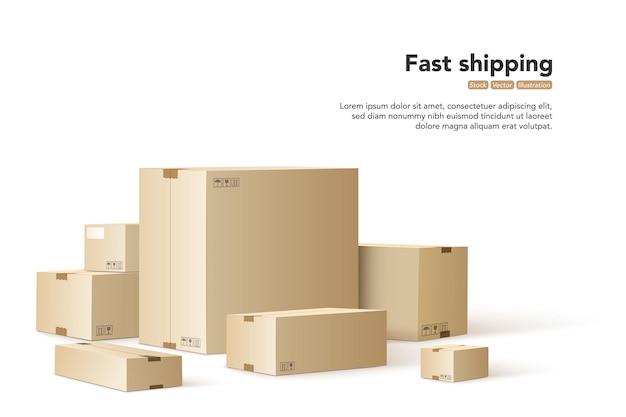 Expédition rapide. concept pour un service de livraison rapide.