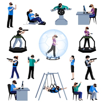 Expérience active de réalité virtuelle et augmentée