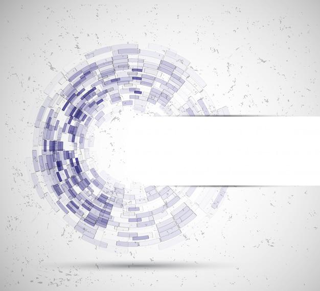 Expérience en affaires de cercle abstrait tecnology