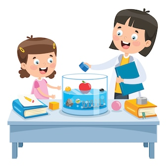 Expérience d'apprentissage de petit écolier