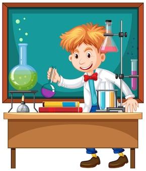 Expérience de chercheur en laboratoire