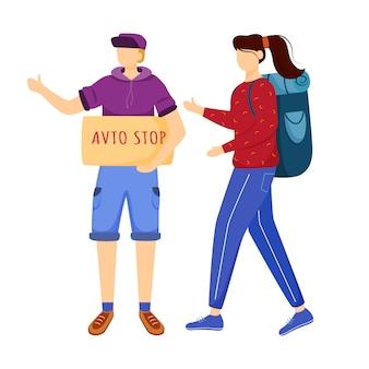 Expérience plate d'auto-stop illustration plate