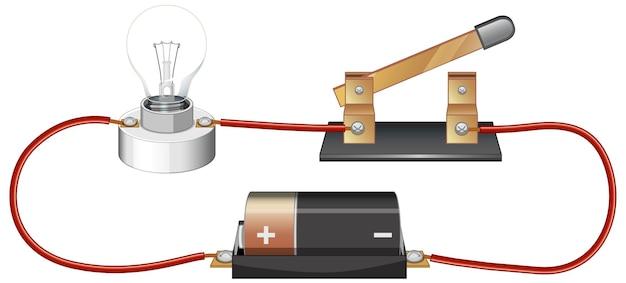 Expérience scientifique du circuit électrique