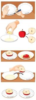 Expérience scientifique sur l'oxydation des pommes