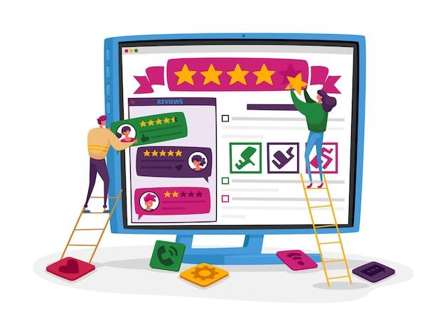 Expérience utilisateur, avis client en ligne, évaluation.