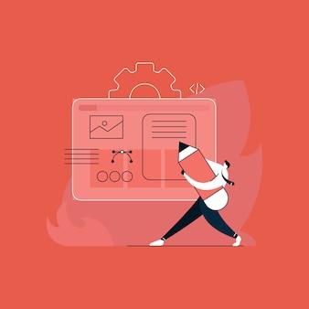 Expérience utilisateur et développement et concept d'interface utilisateur