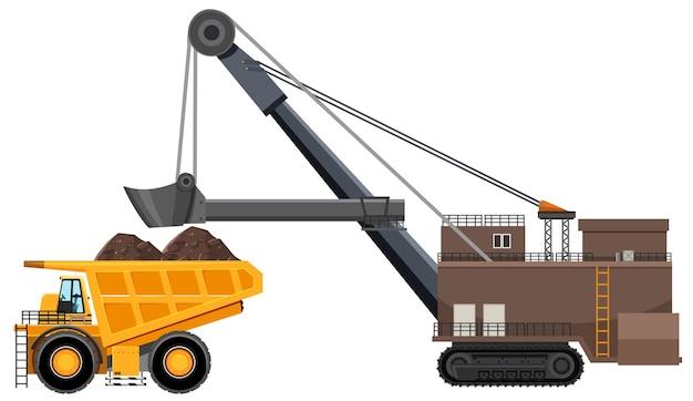 Exploitation minière par camion-benne articulé