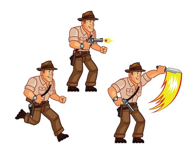 Explorer game character sprite