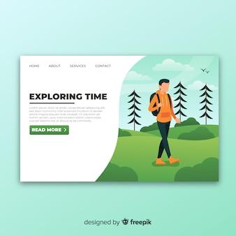 Explorer la page de destination