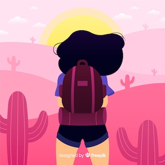 Explorer avec sac à dos