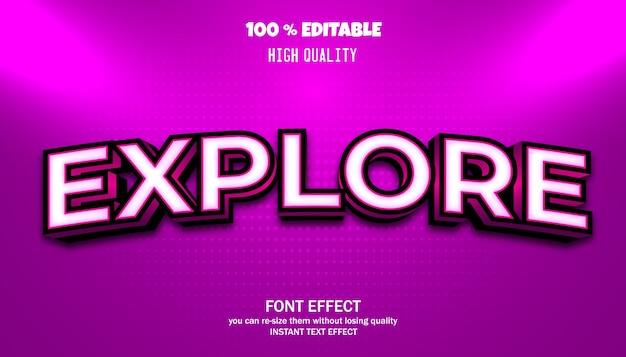 Explorez l'effet de texte. police modifiable