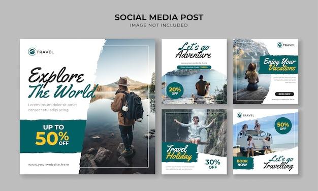 Explorez le modèle de publication instagram sur les réseaux sociaux mondiaux