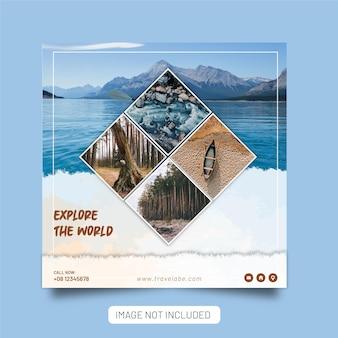 Explorez le modèle de publication sur les médias sociaux de l'agence de voyage mondiale