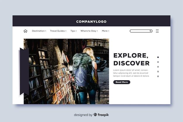 Explorez la page de destination avec la photo