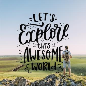 Explorons ce lettrage mondial impressionnant