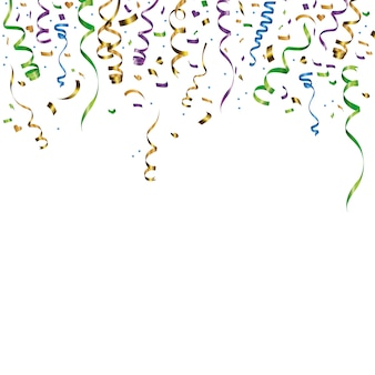 L'explosion de confettis colorés