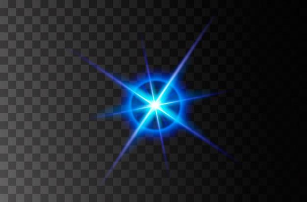 Explosion éclatante de lumière rougeoyante