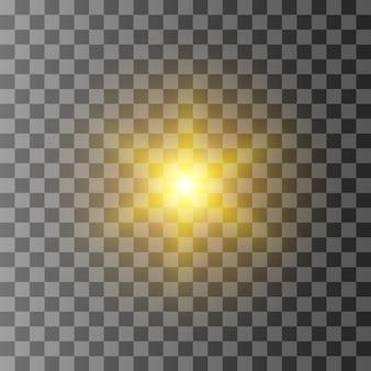 Explosion éclatée de lumière rougeoyante jaune