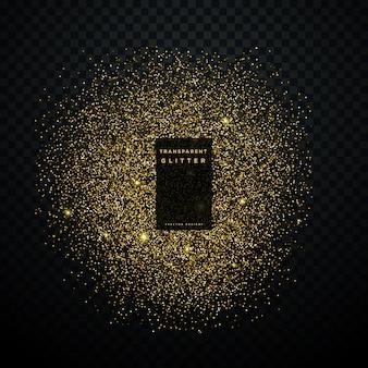 Explosion d'éclats d'or éclat brillant fond de confettis