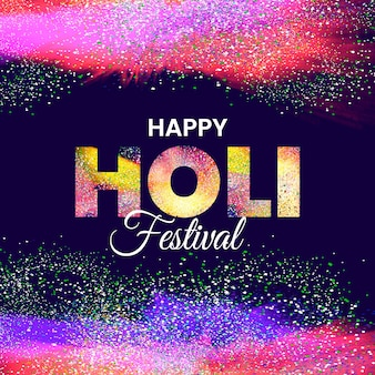 Explosion de festival joyeux holi de couleurs réalistes