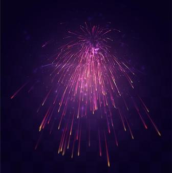 Explosion festive lumineuse d'un salut de vecteur sur un fond de mosaïque remplaçable, un sentiment de célébration