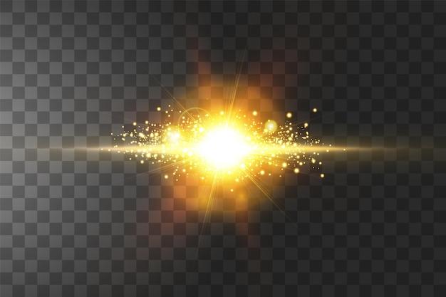 Explosion lumineuse, effet de lumière.
