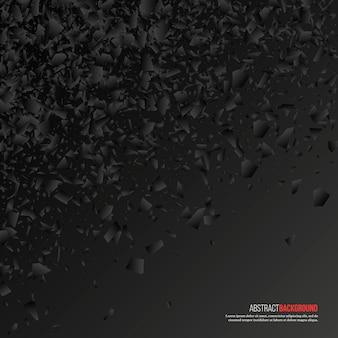 Explosion noire abstraite. fond géométrique.