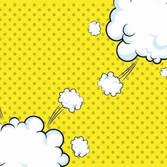 Explosion de nuages pop art pointillés
