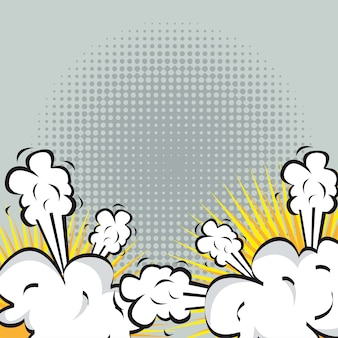 Explosion ou combat en bande dessinée