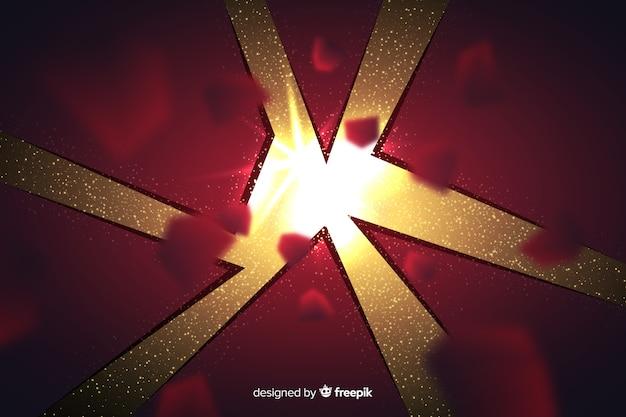 Explosion tridimensionnelle avec fond clair
