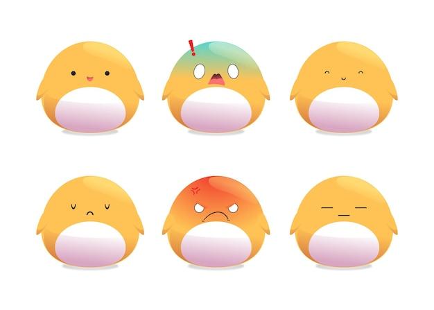 Expression de caractère mignon