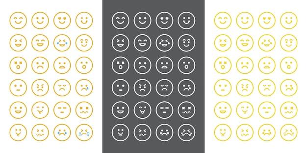 L'expression du concept d'émotion fait face au personnage emoji dans différentes émotions
