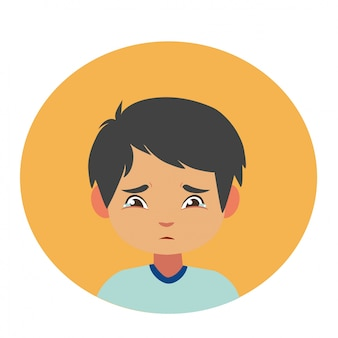 Expression du visage. caractère d'illustration d'expression enfants