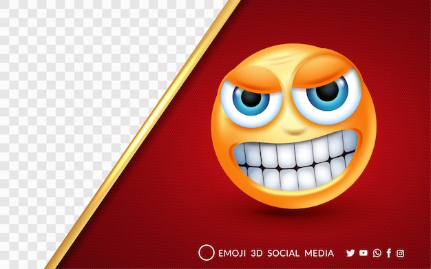 L'expression emoji est très en colère