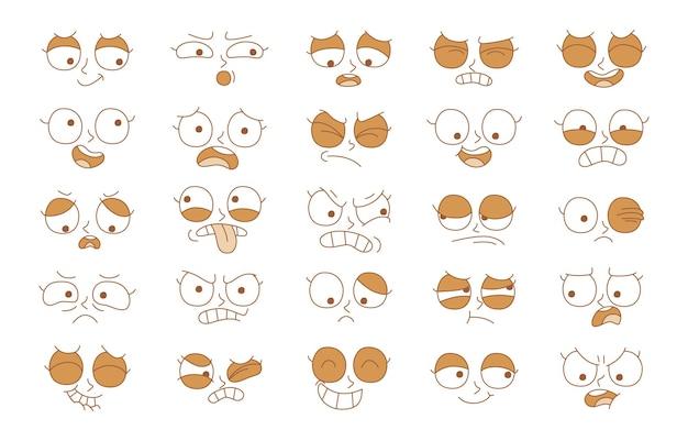 Expression de l'ensemble de concept d'émotion. visage d'émotion d'illustration de dessin animé de l'homme.