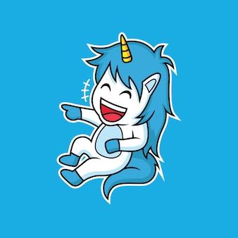 L'expression de la licorne riait joyeusement