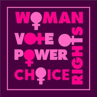 Expression de motivation des droits de la femme