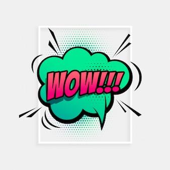 Expression de la parole comique pour terme wow
