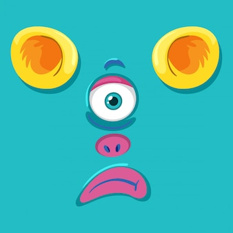 Une expression de visage de monstre