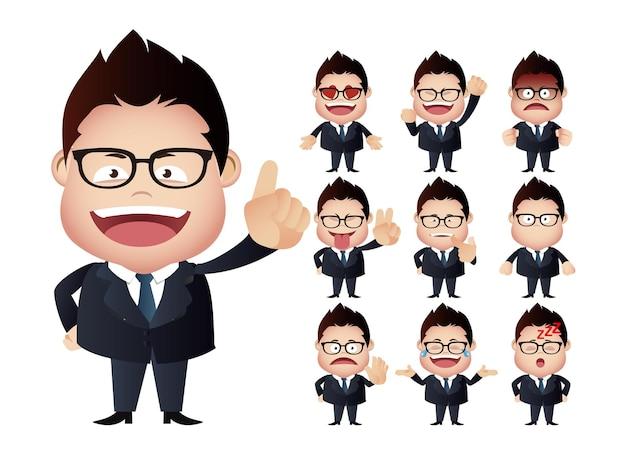 Expressions du visage de l'homme