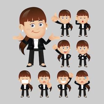 Expressions de gens d'affaires avec différents visages