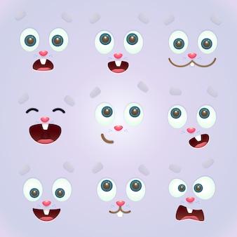 Expressions de lapin de pâques